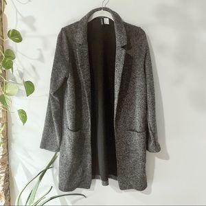 H&M Tailored Long Knit Blazer Cardigan